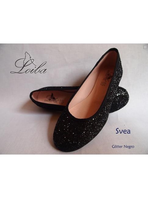 Bailarina glitter negra Loiba
