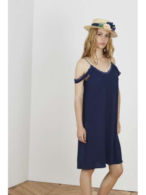 Lace navy lace dress