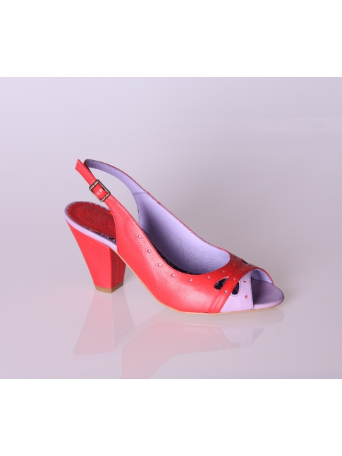 Zapatos bicolor tacón