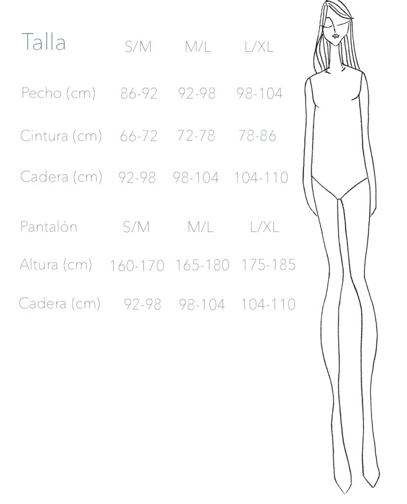 Guía de tallas de Mus & Bombon