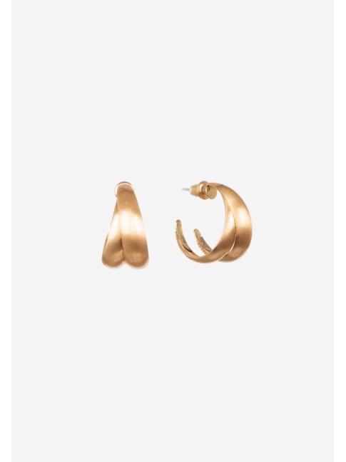 Pendiente superpuesto gold
