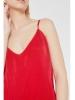 Vestido rojo plisado tirantes