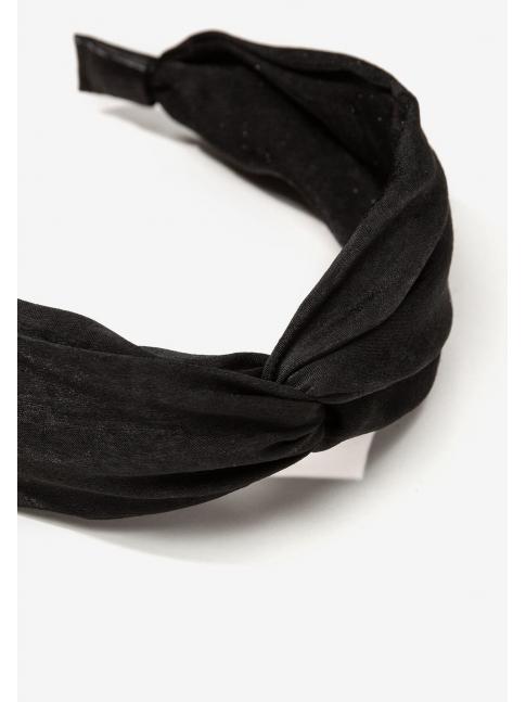Diadema nudo negra