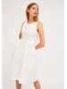 Vestido tirante midi popelin blanco