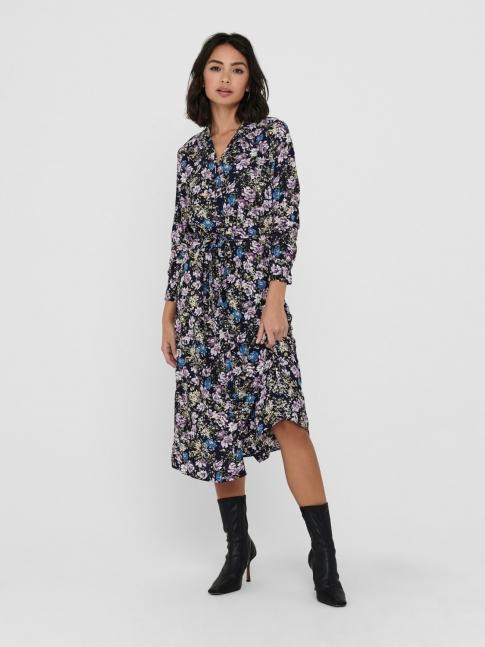 Vestido midi floral Piper